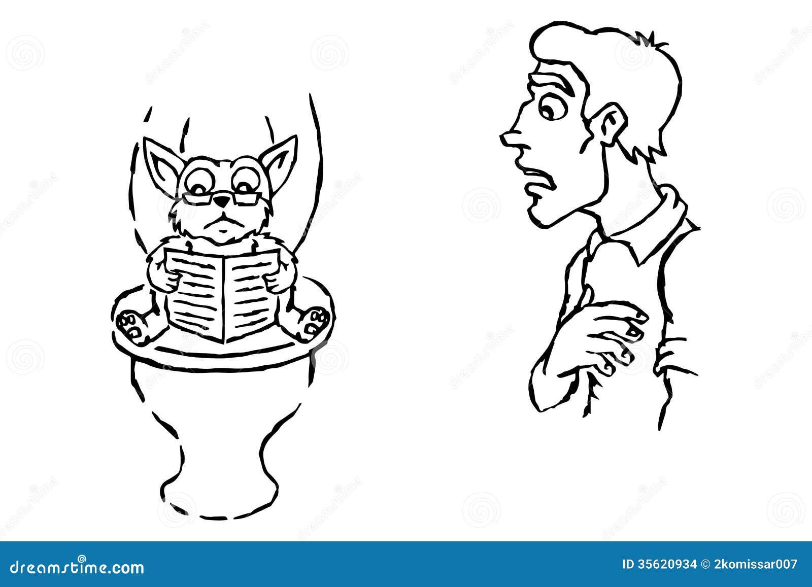 eine katze sitzt auf der toilette stockbilder bild 35620934. Black Bedroom Furniture Sets. Home Design Ideas