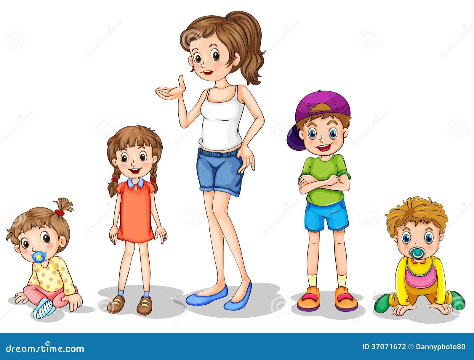 Рисунки мама и брат