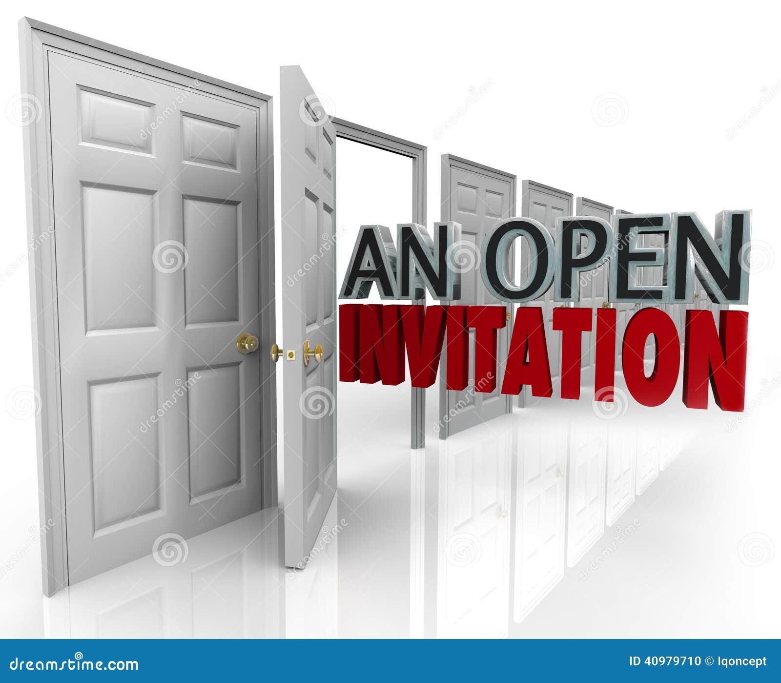 9e13bf9ab6a4f Eine Offene Einladung Fasst Geschäfts-Tür-freundlichen Kunden-Besuch ...