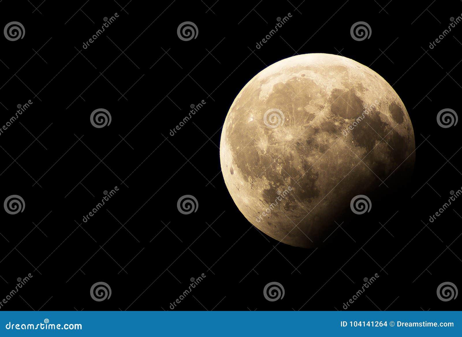 Eine partielle Mondfinsternis