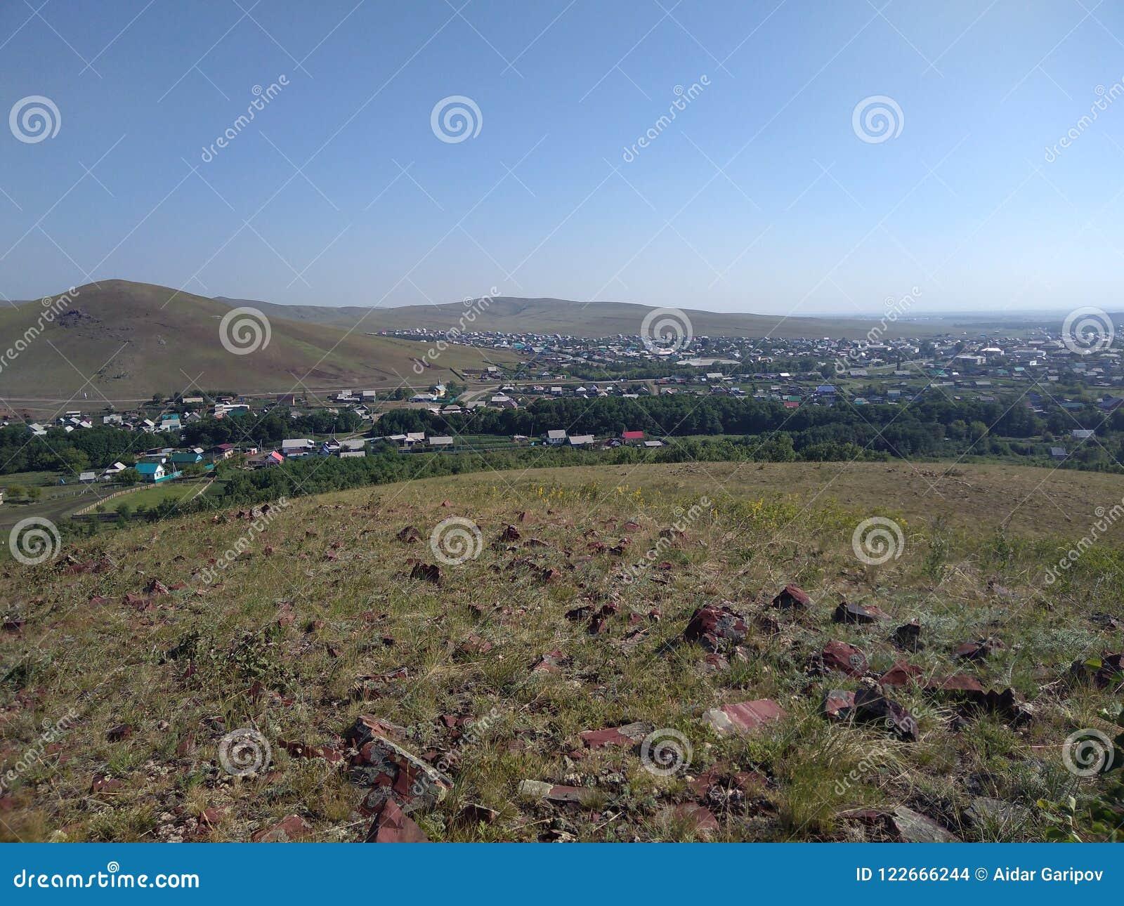 Eine provinzielle Stadt gelegen in den Fernprovinzen von Russland