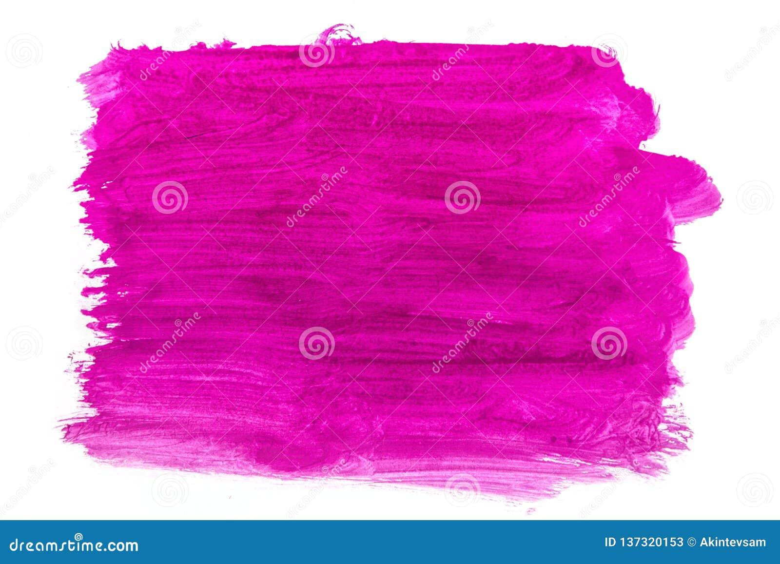 Eine purpurrote Gouache der großen Bürstenstelle auf Weiß