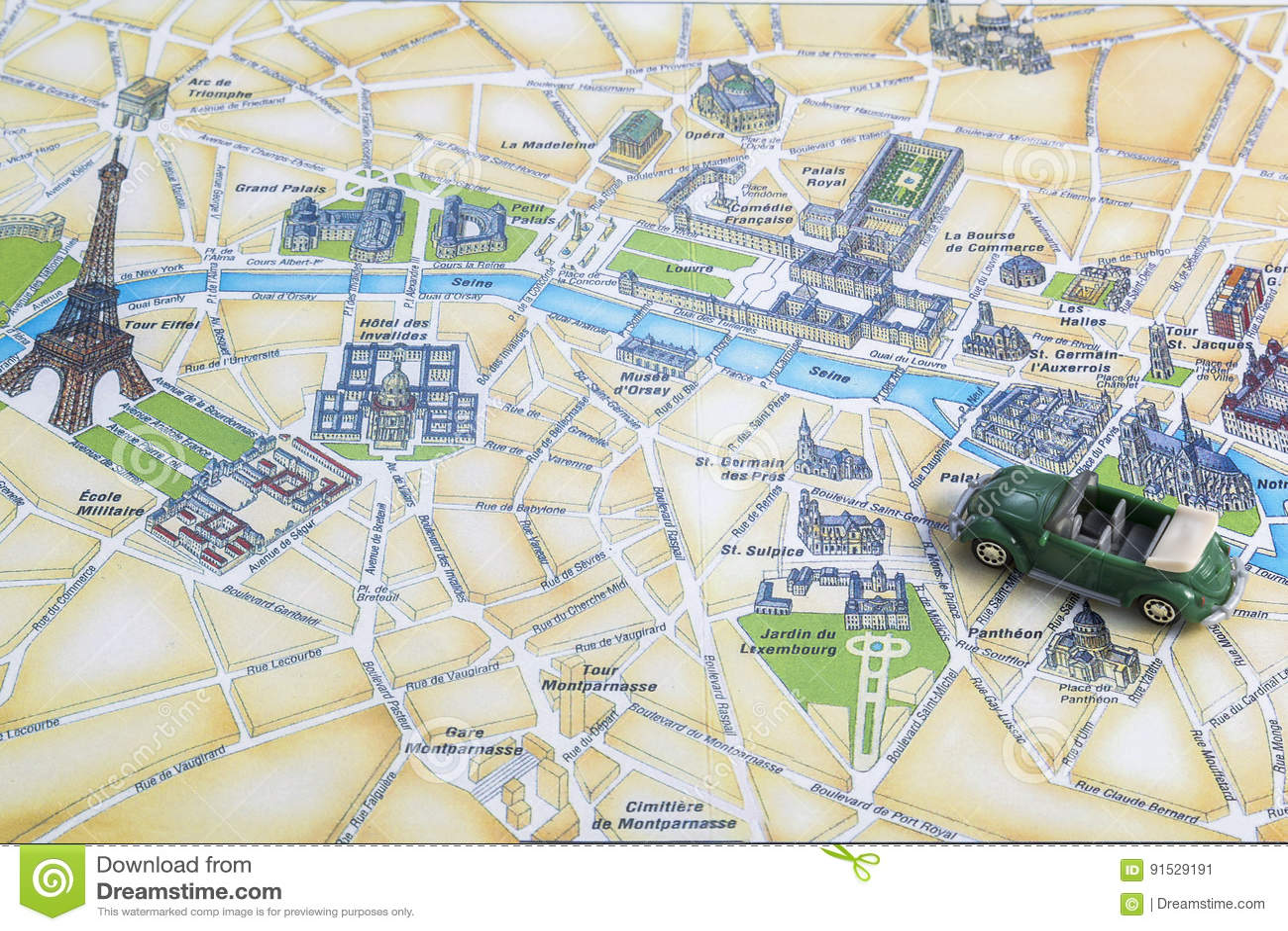 Eine Reise Durch Europa Karte Von Paris Stockbild Bild Von Zieleinheit Grenzsteine 91529191