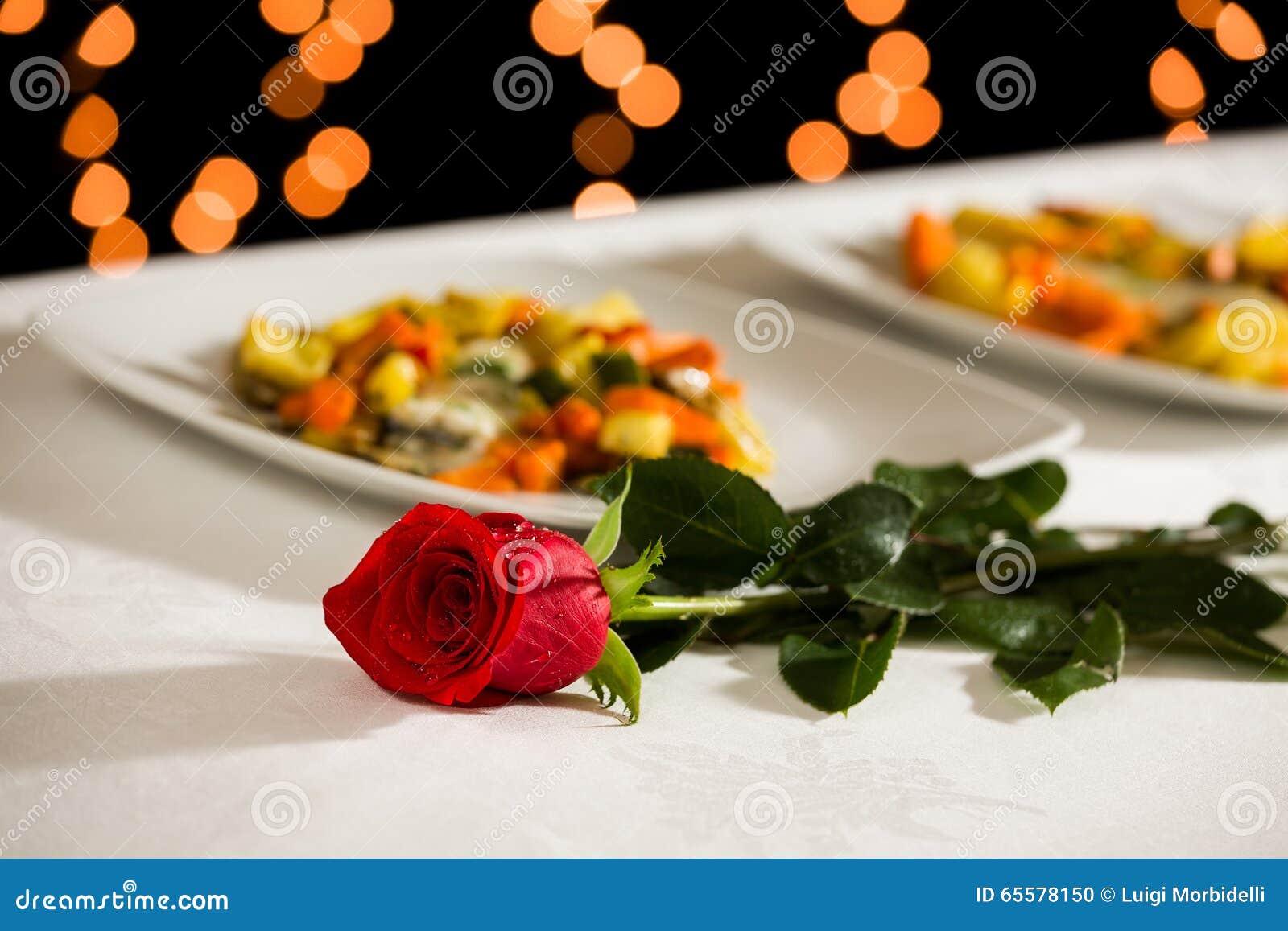 Eine Rose für Valentinstag
