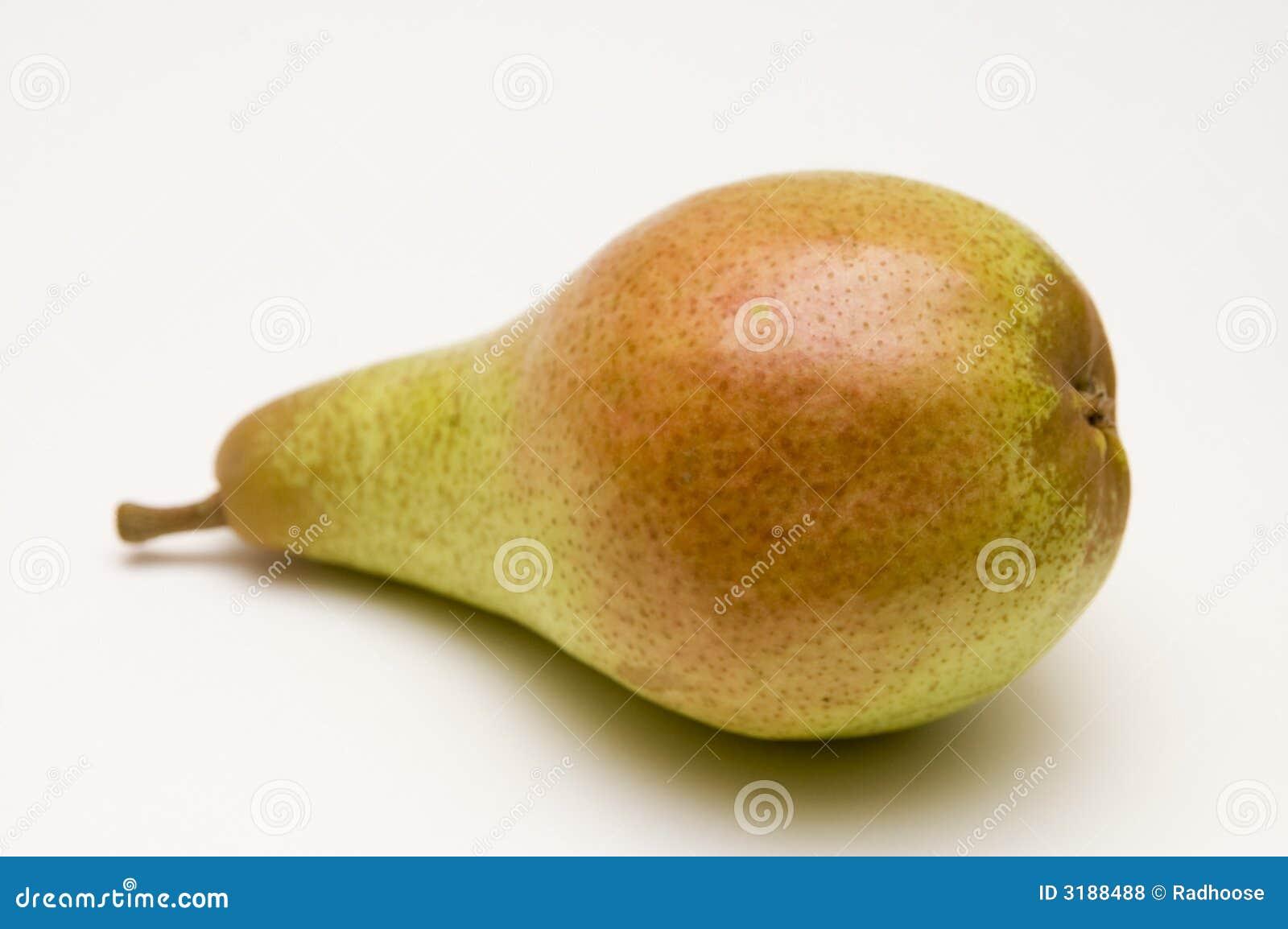 Eine rot-grüne Birne