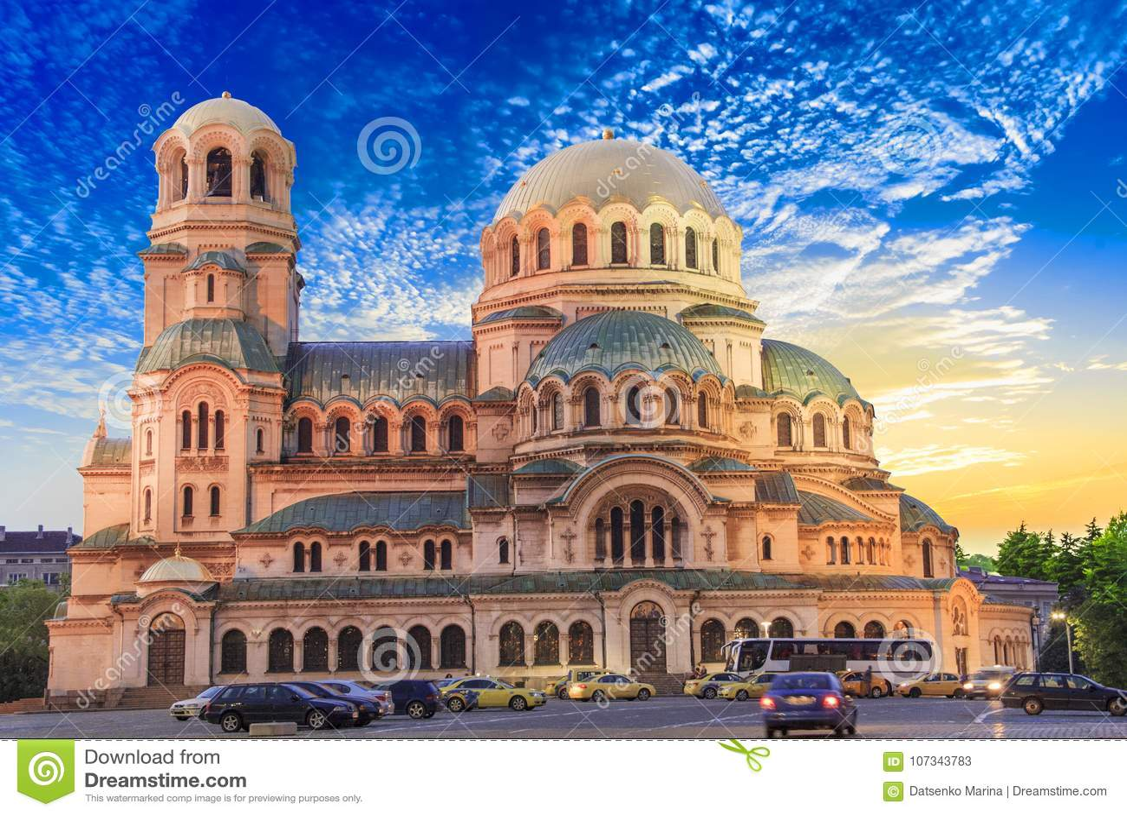 Eine schöne Ansicht Alexander Nevsky Cathedrals in Sofia, Bulgarien