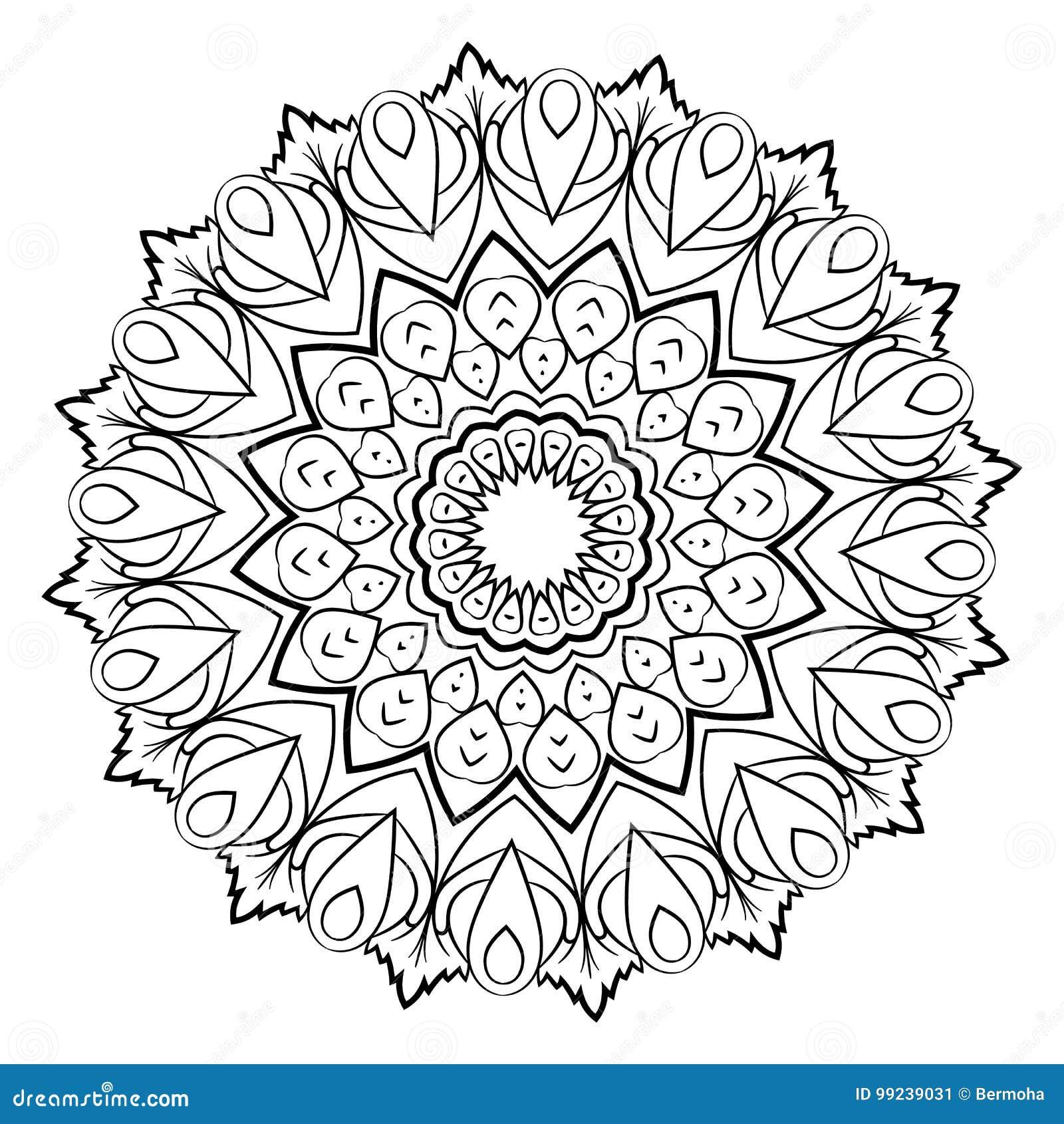 Ein Muster In Schwarz Weiss Mandala Zum Ausdrucken 0