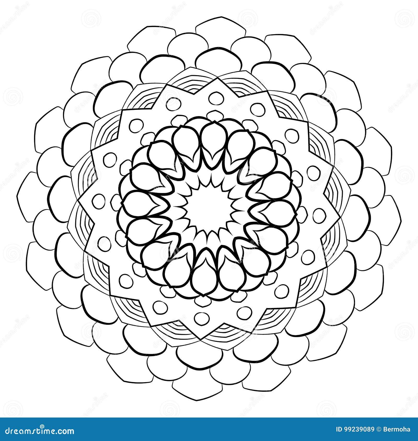Mandala Kreisformigen Muster Ein Muster Aus