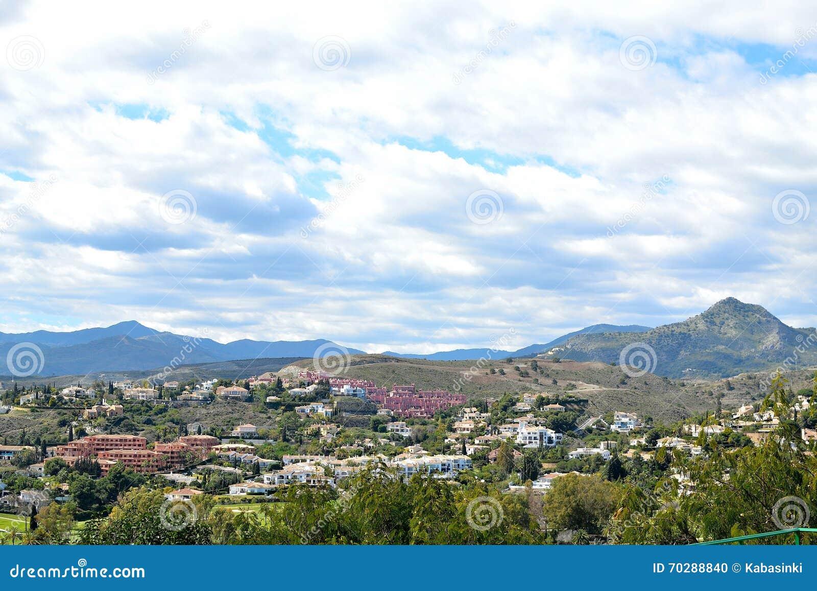 Eine Schone Landschaft Von Estepona Costa Del Sol Spanien