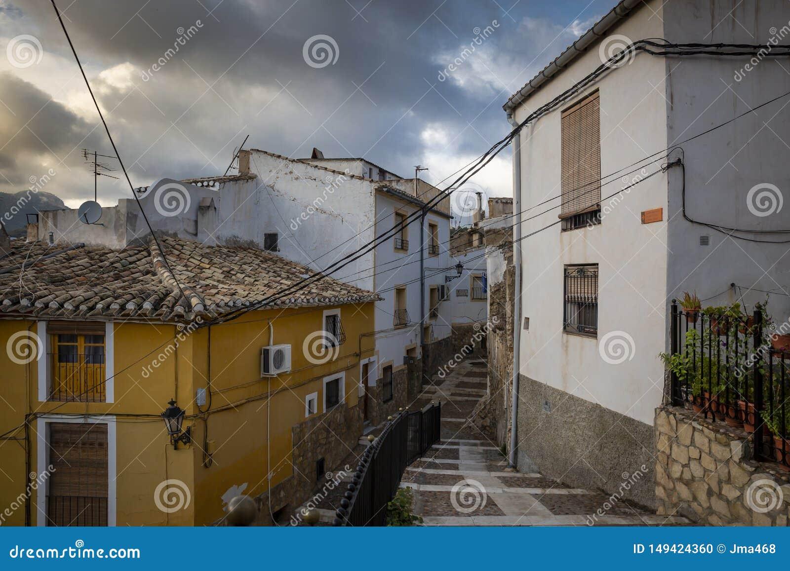 Eine Straße in heiliger Stadt Caravaca de la Cruz