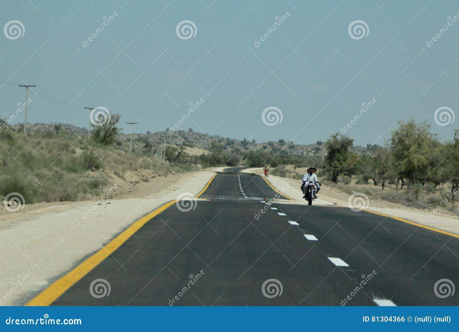 Eine Teppich Straße in Tharparkar Sindh