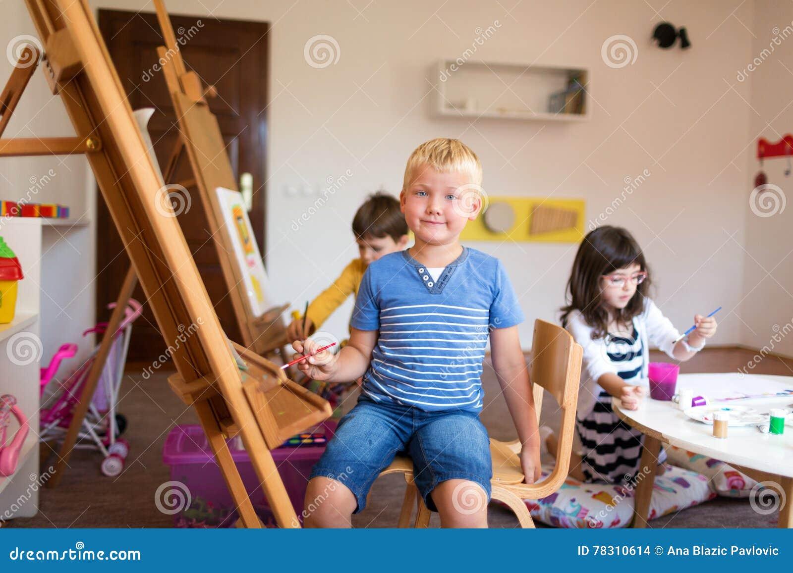 In einem Kunstunterricht