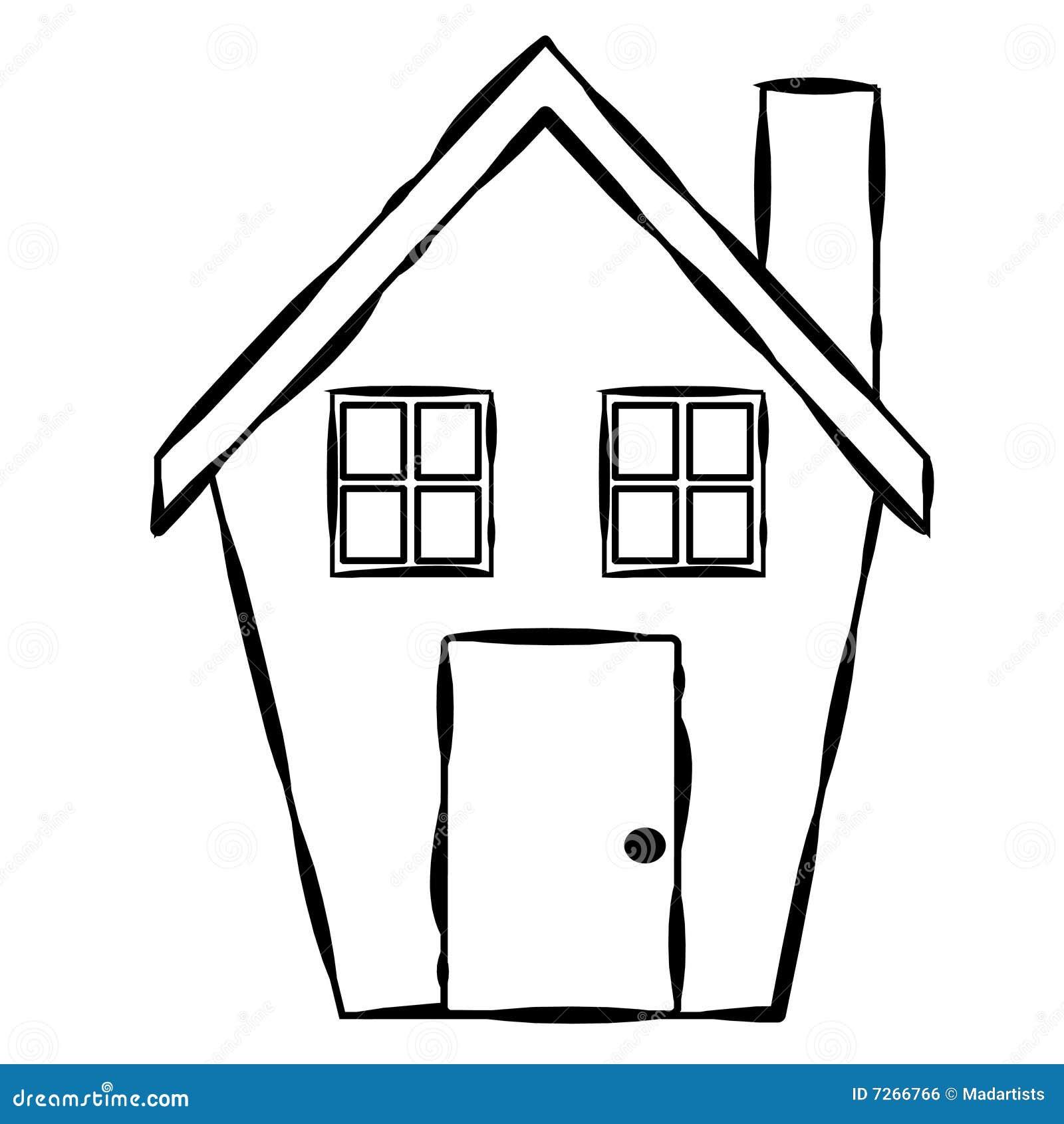 einfache haus zeile kunst lizenzfreies stockbild bild. Black Bedroom Furniture Sets. Home Design Ideas