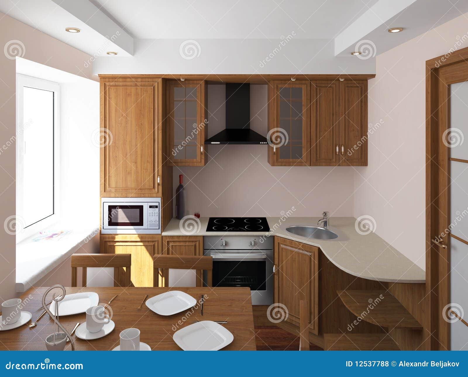 Einfache Küche stock abbildung. Illustration von dunkel - 12537788
