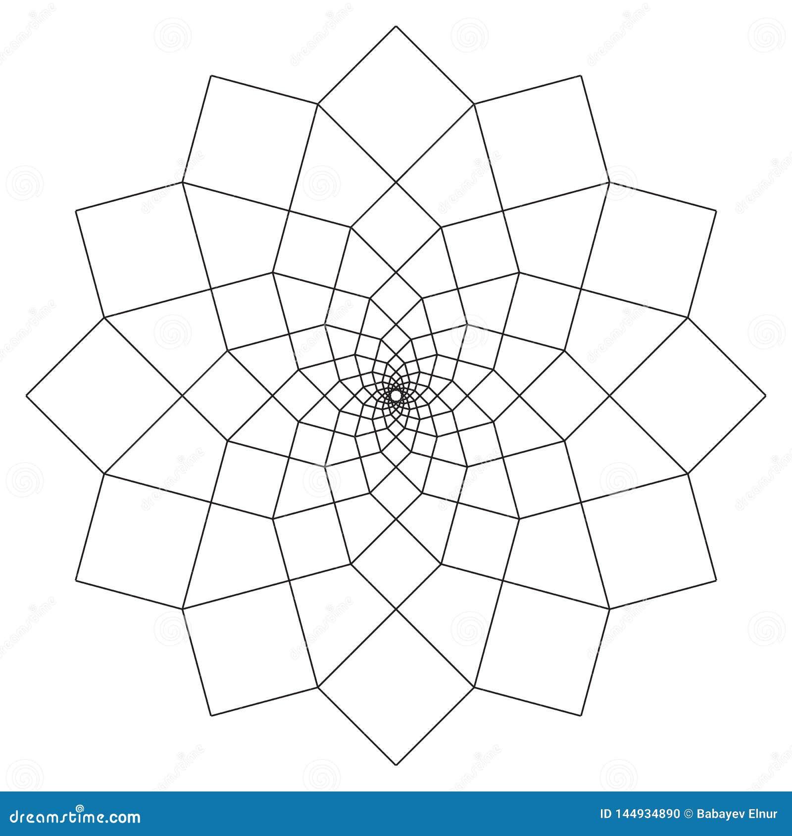 Einfache Mandala Shape f?r die F?rbung Vektormandala floral Blume orientalisch Buchseite umrei?