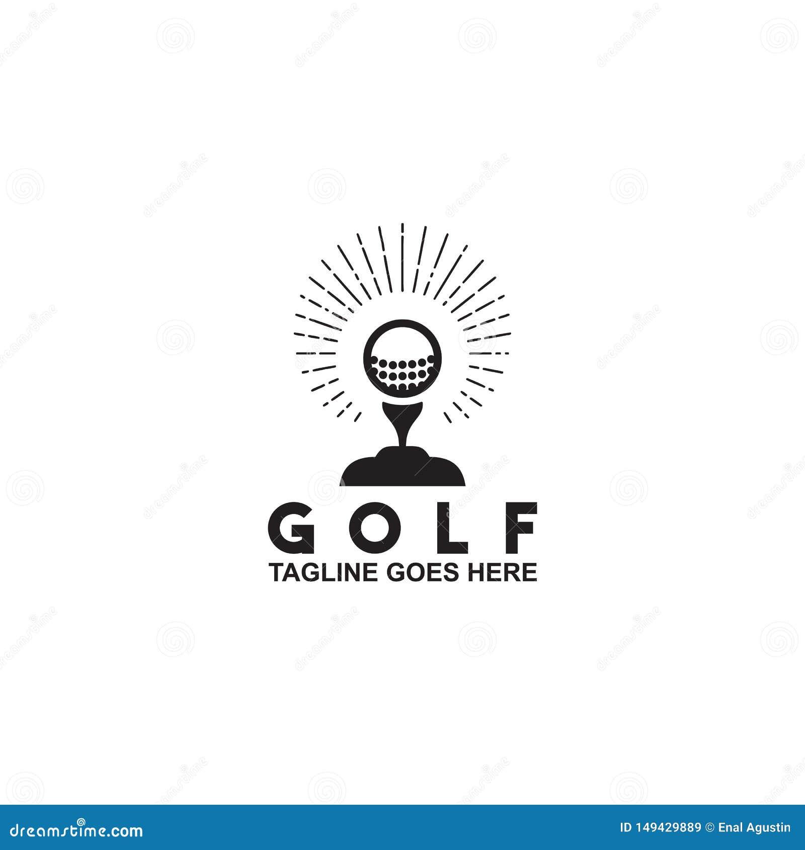 Einfache moderne Golflogoentwurfsinspirations-Vektorschablone