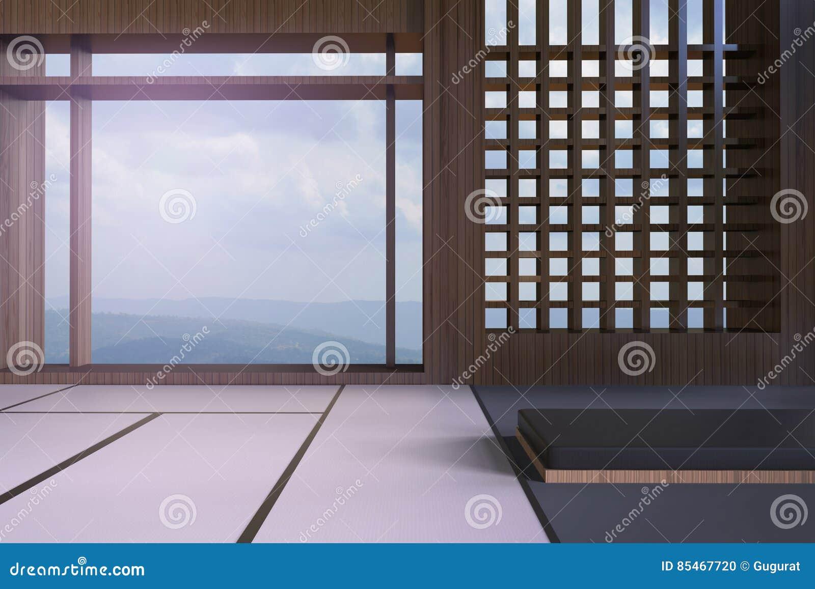 Einfache Moderne Japanische Wohnzimmer- Und Fensteransichten Der ...