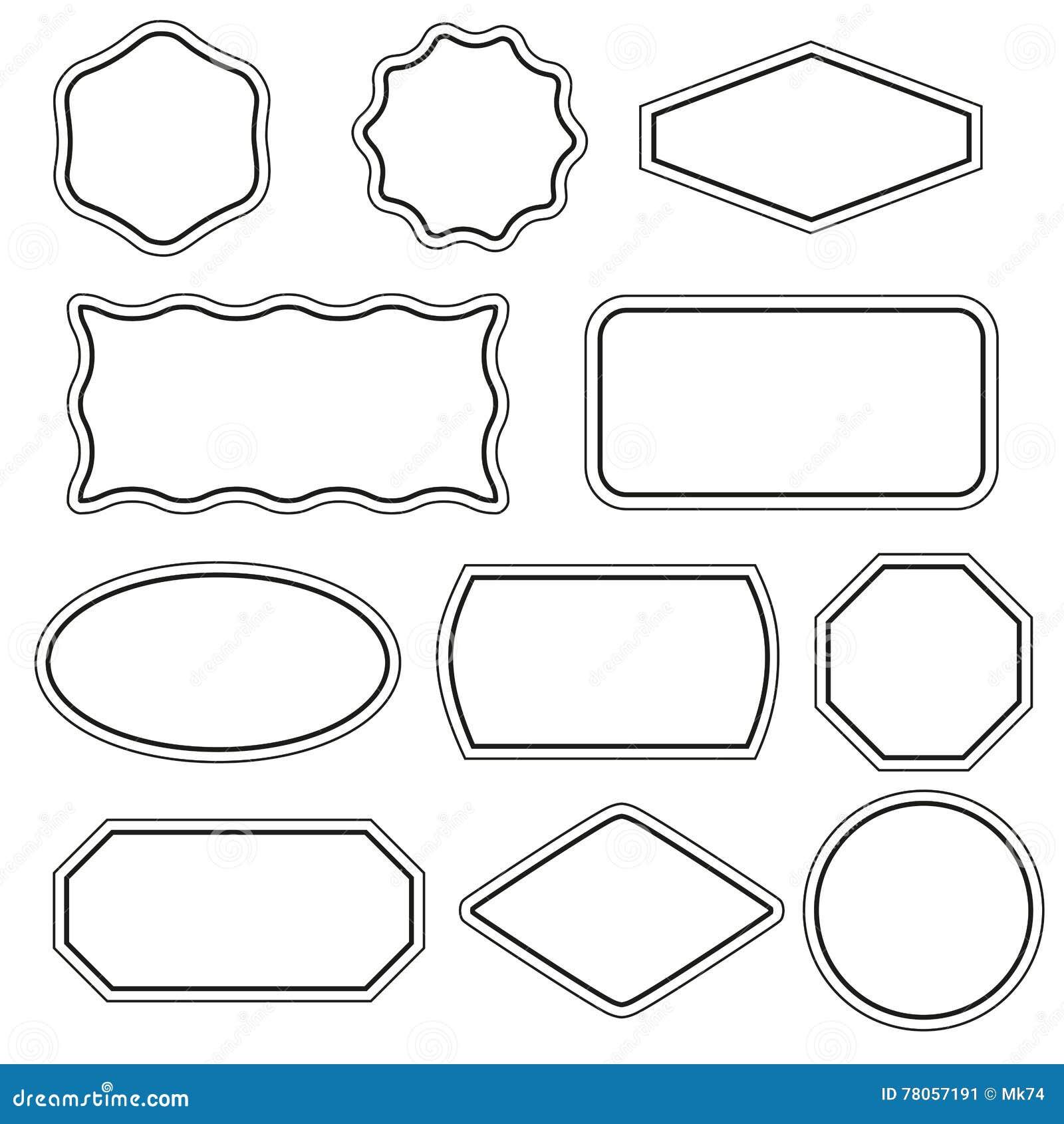 Einfache Rahmen Eingestellt Vektor Abbildung - Illustration von ...