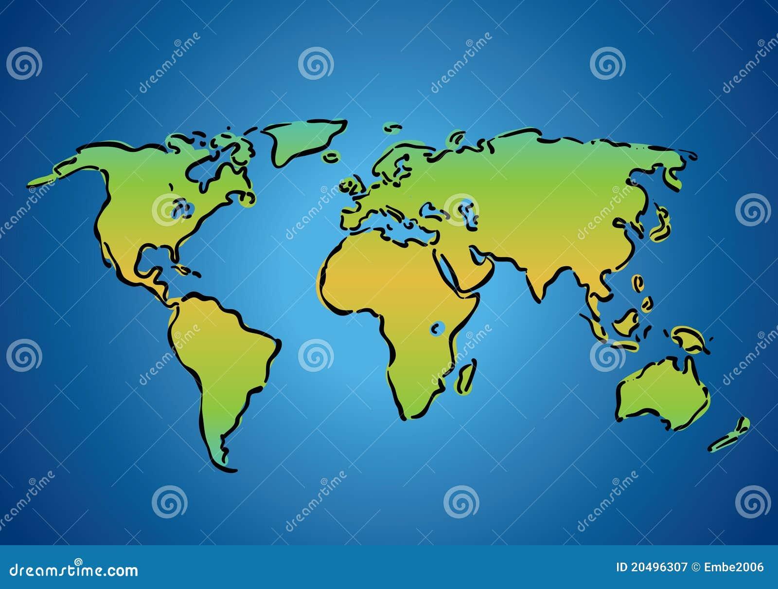 Einfache weltkarte lizenzfreie stockfotografie bild - Papel pintado mapa del mundo ...