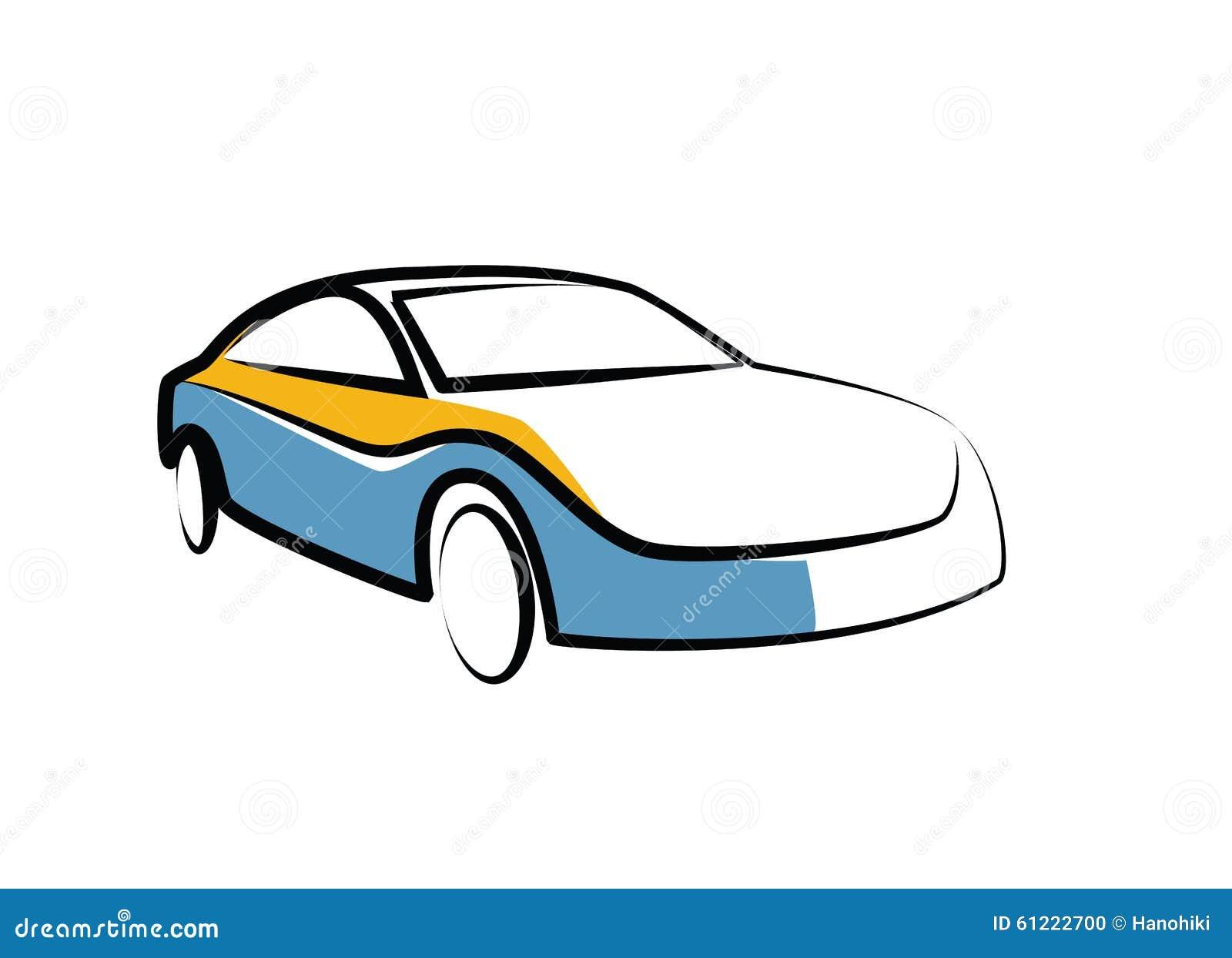 Einfache Zeichnung Einer Motor- Selbstskizze Des Modernen Sports ...