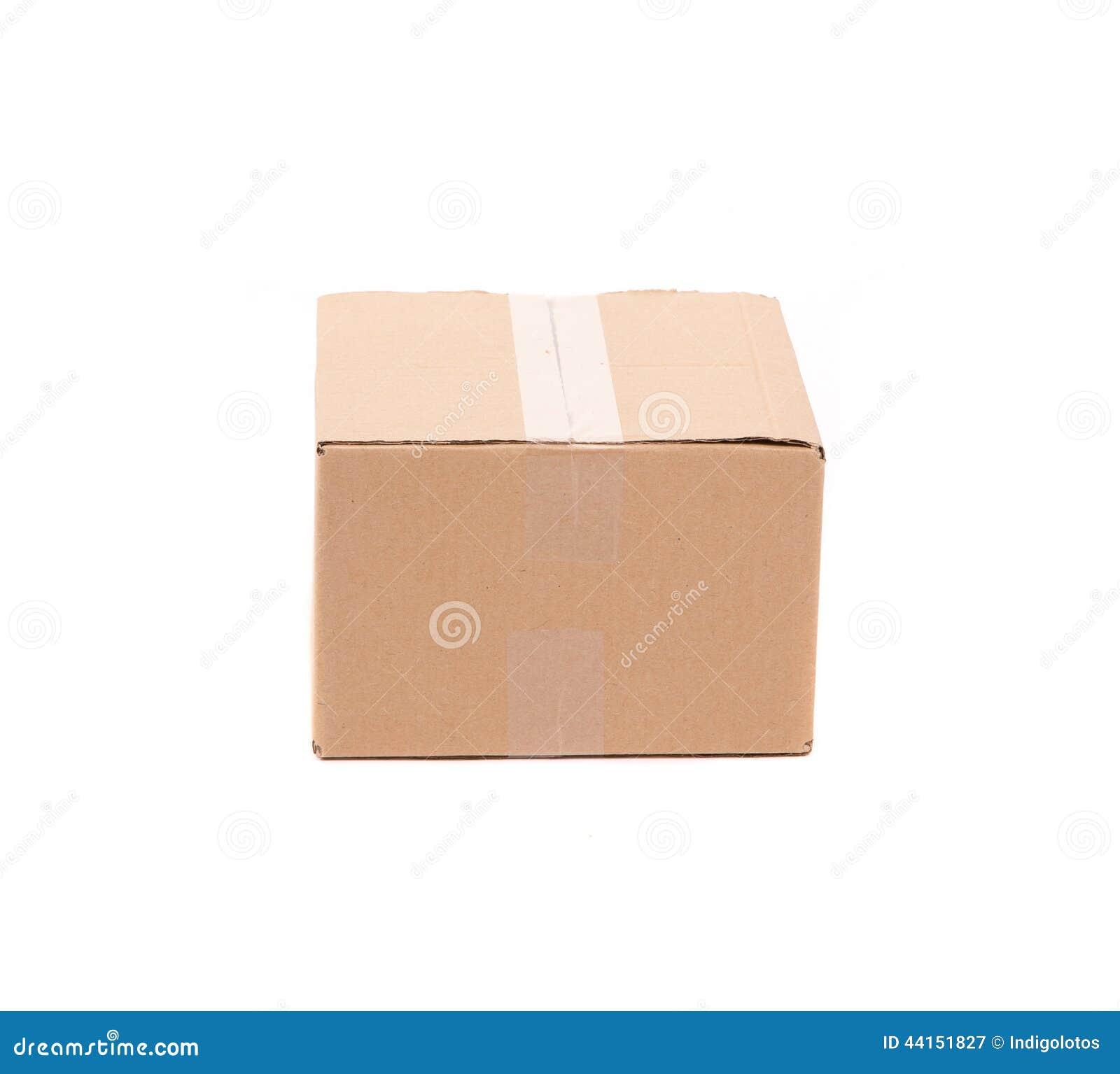 Einfacher Brauner Kartonkasten Stockbild - Bild von rahmen, pappe ...