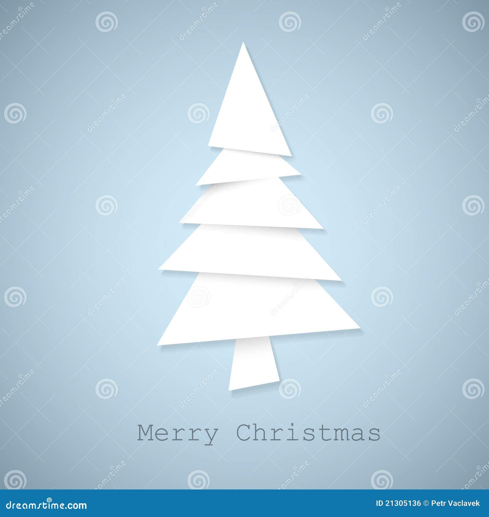 einfacher weihnachtsbaum gebildet vom papier lizenzfreies. Black Bedroom Furniture Sets. Home Design Ideas