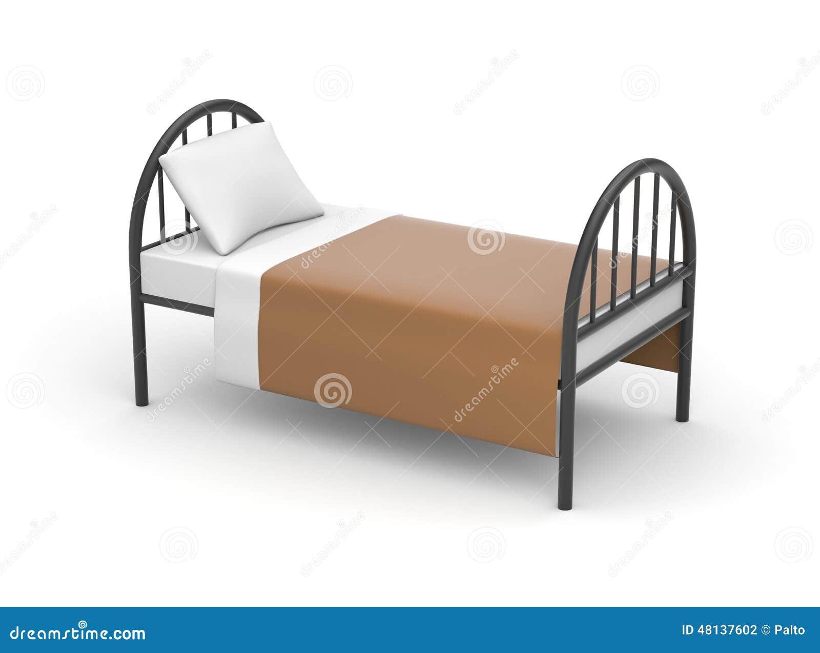 einfaches bett stock abbildung bild 48137602. Black Bedroom Furniture Sets. Home Design Ideas