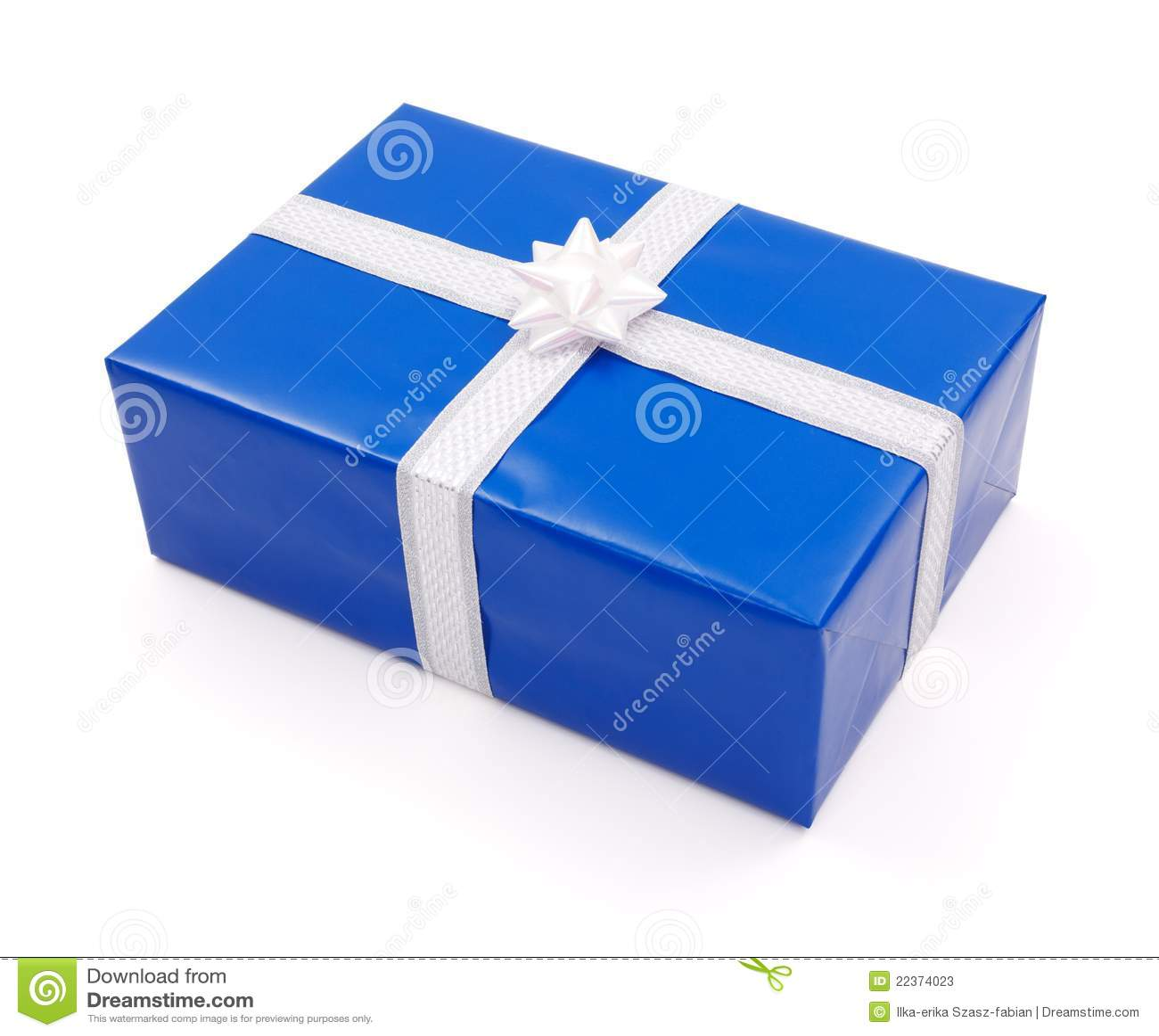 einfaches blaues geschenk stockfotos bild 22374023. Black Bedroom Furniture Sets. Home Design Ideas