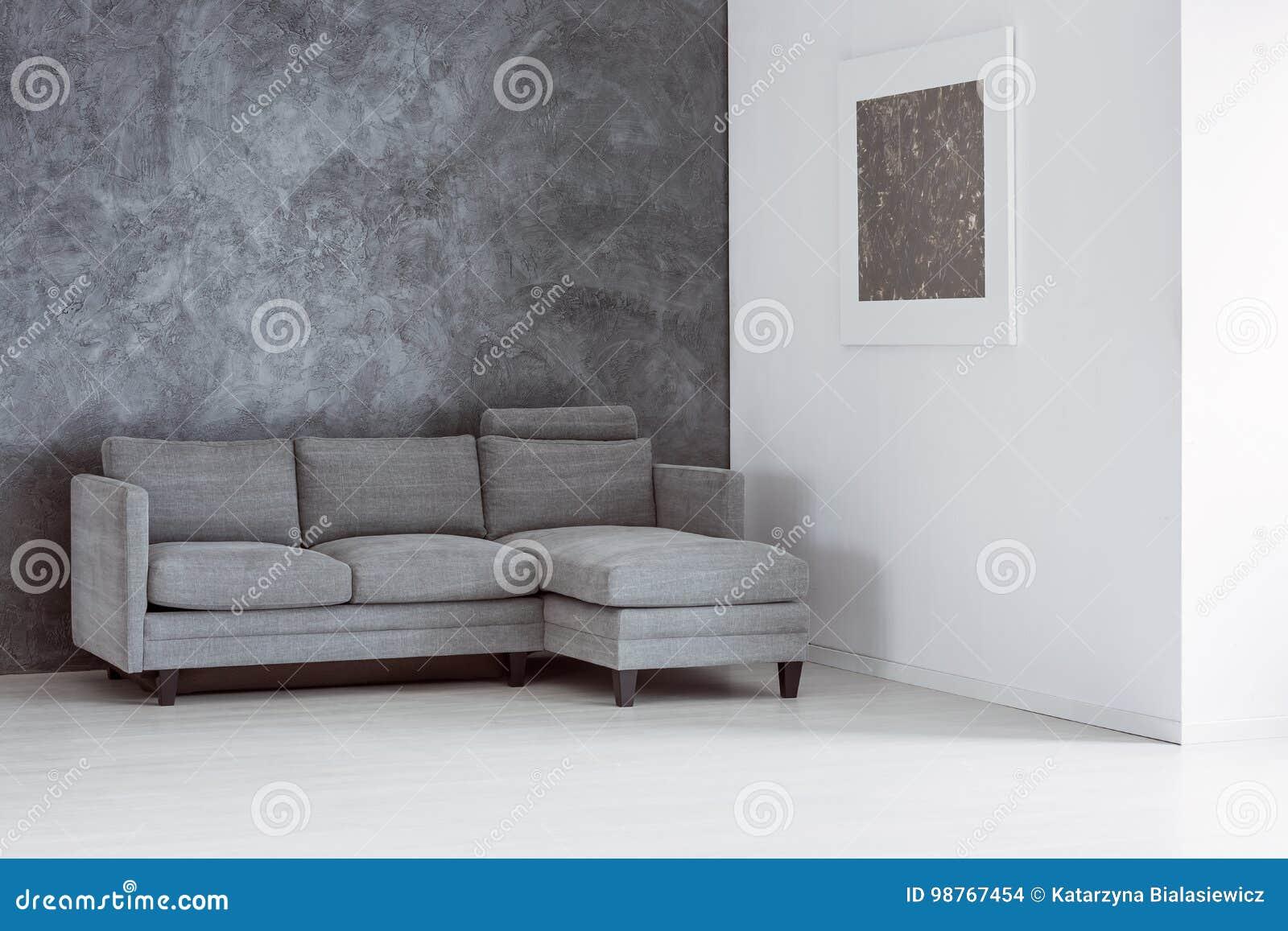 Einfaches Leeres Wohnzimmer Stockfoto - Bild von kontrast, grau ...