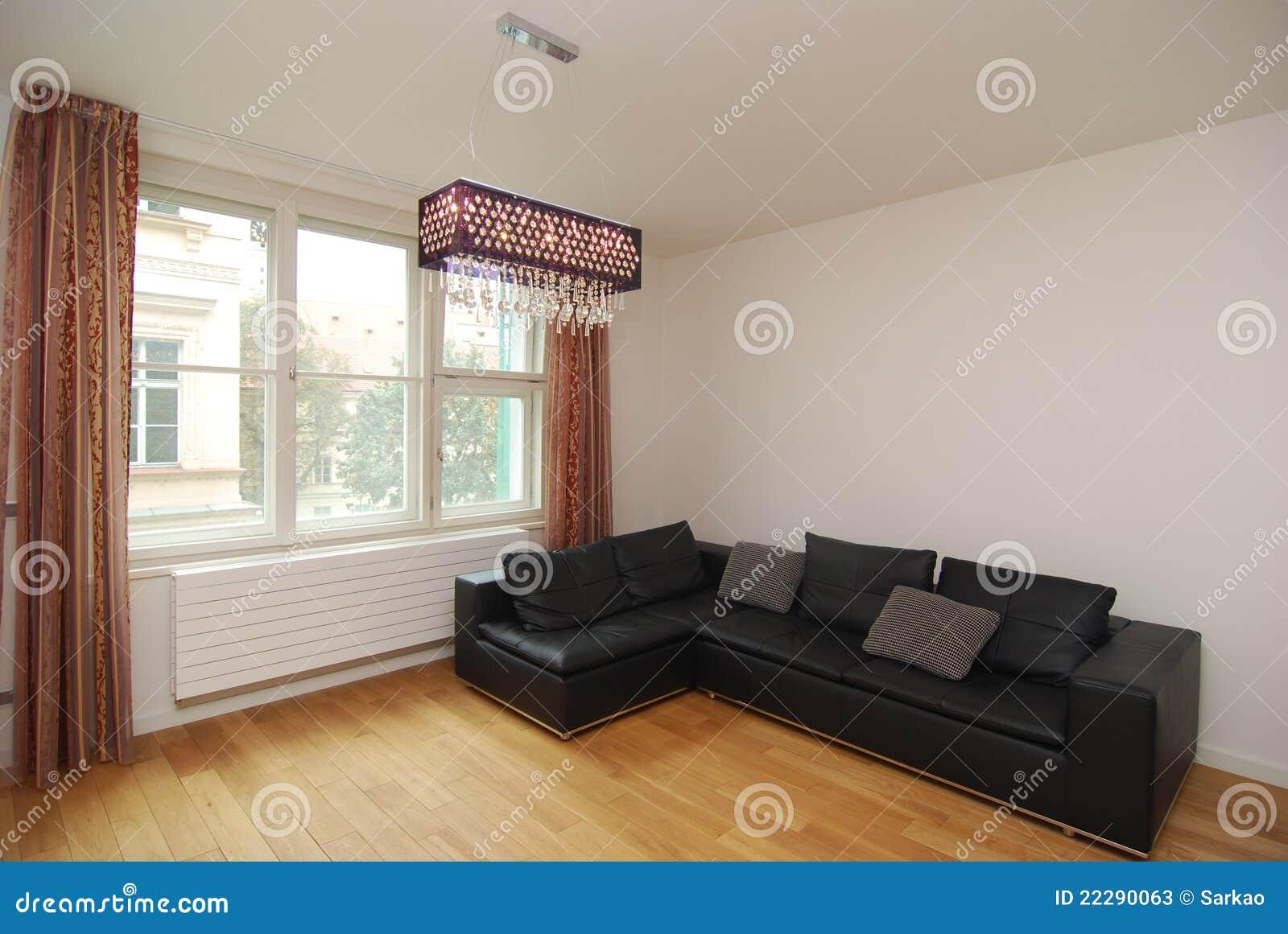 Einfaches Modernes Wohnzimmer Stockbild - Bild von leben, couch ...