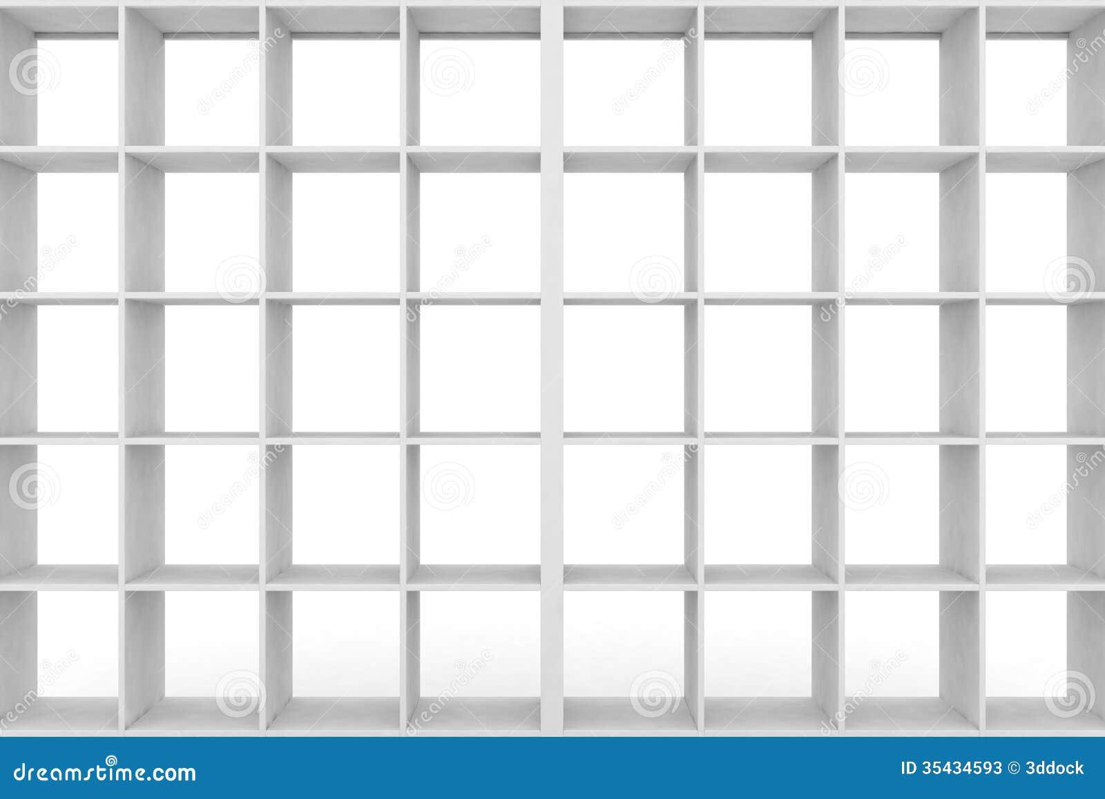 einfaches regal mit leeren gestellen stockfotos bild 35434593. Black Bedroom Furniture Sets. Home Design Ideas