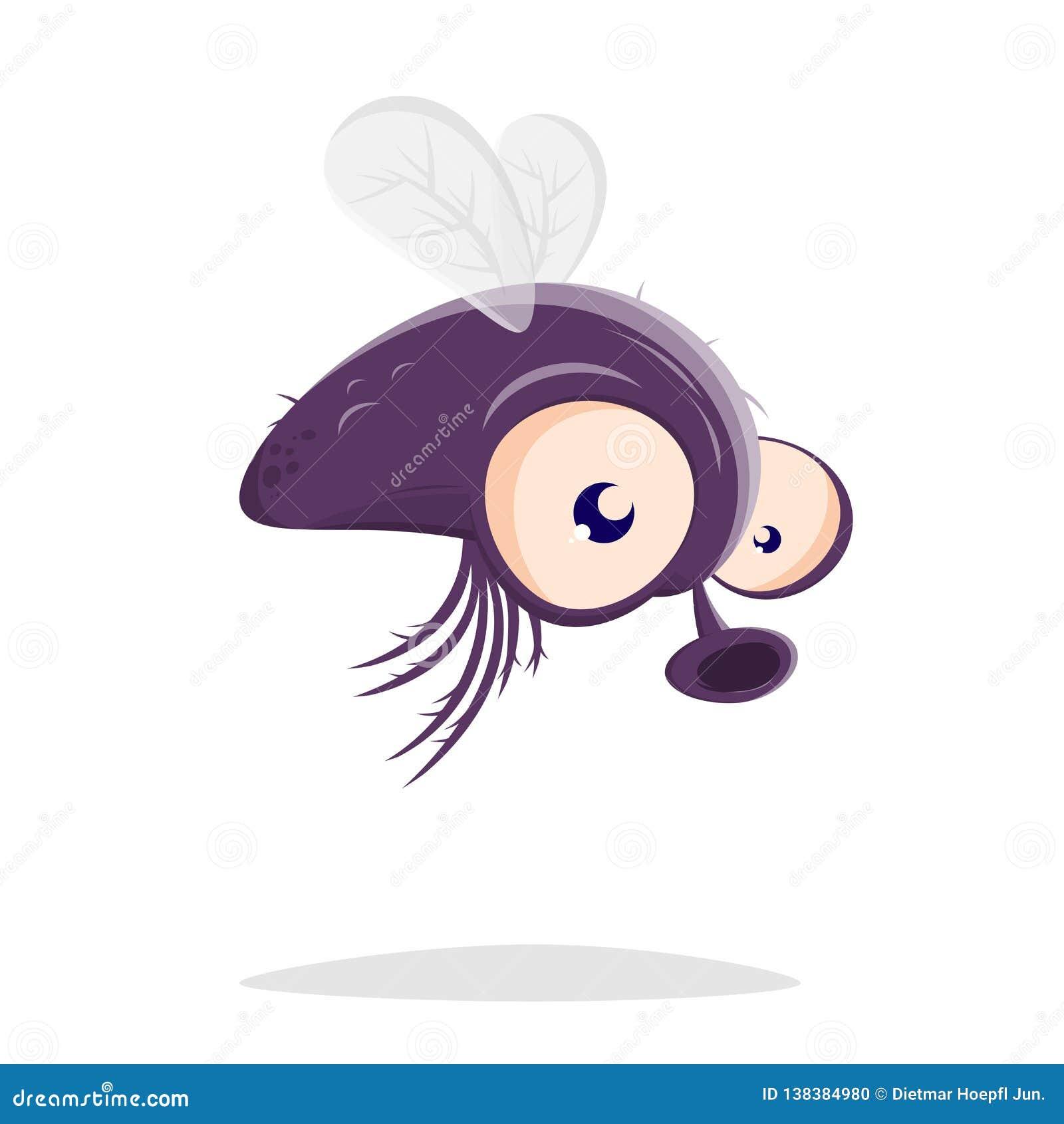 Cartoon illustration of a fly