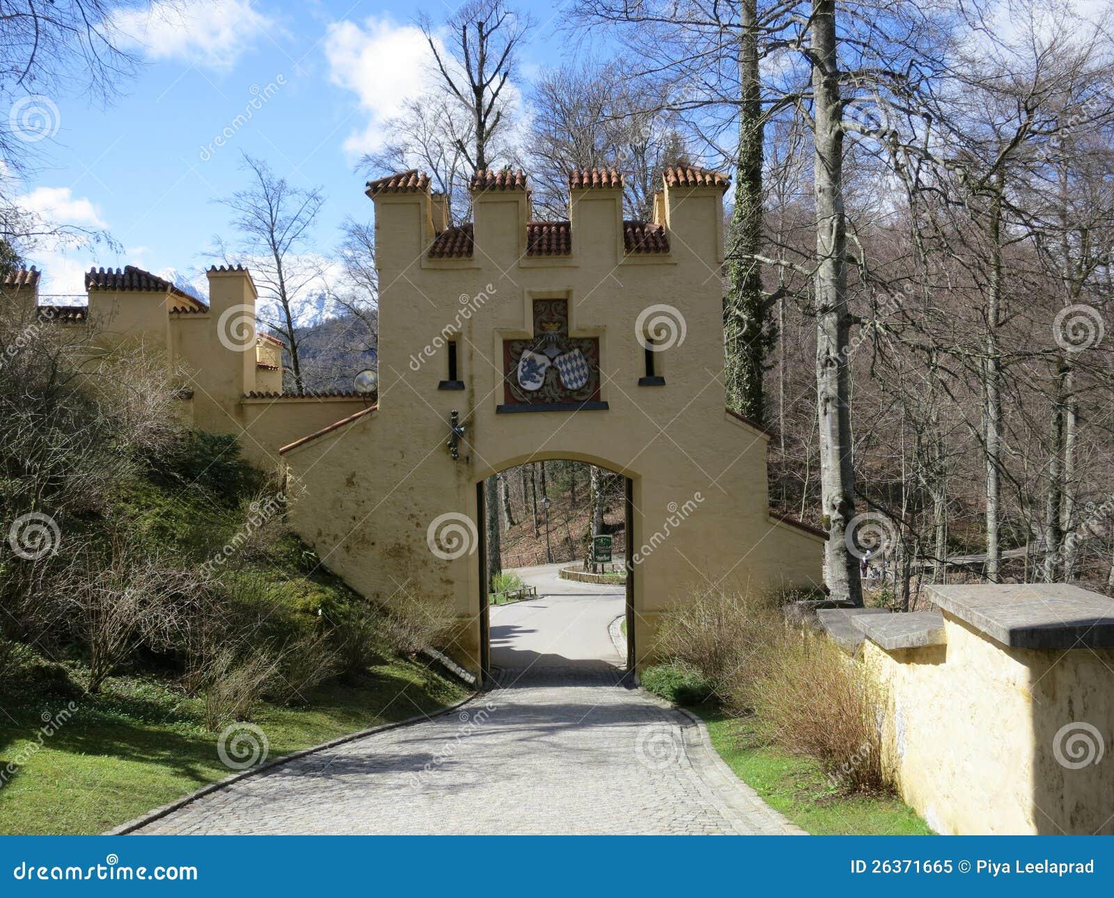 Eingang des Hohenschwangau Schlosses