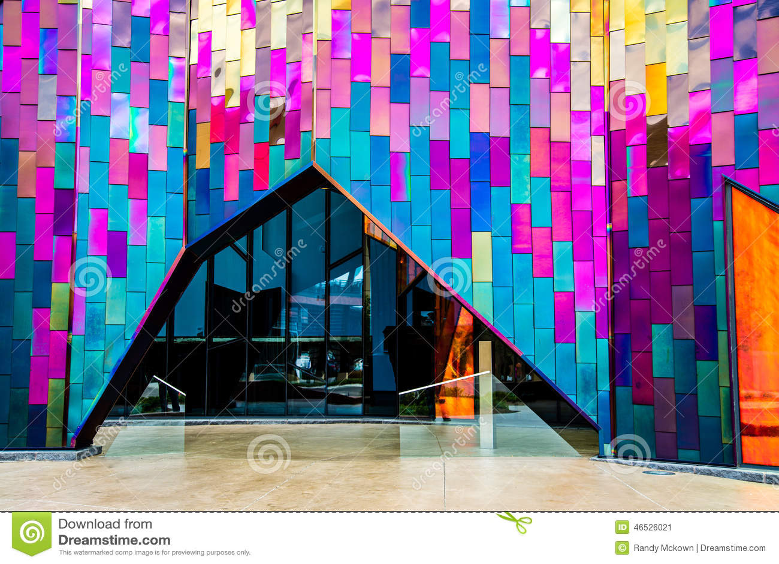 Eingang im modernen Architektur-Museum in Kansas City