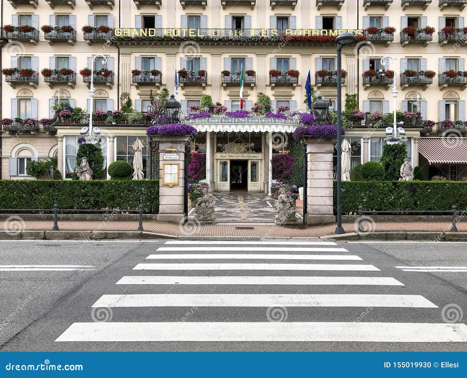 Eingang Von Grand Hotel Des Iles Borromees In Stresa Italien Redaktionelles Bild Bild Von Grand Iles 155019930