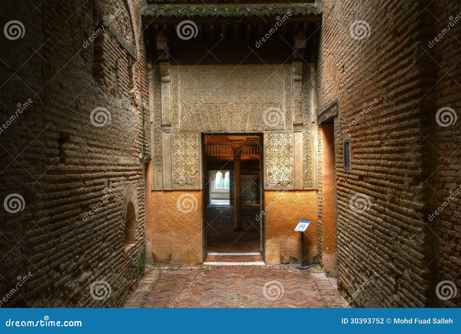 Eingang zu Nasrid-Palast Alhambra Andalusia Spain
