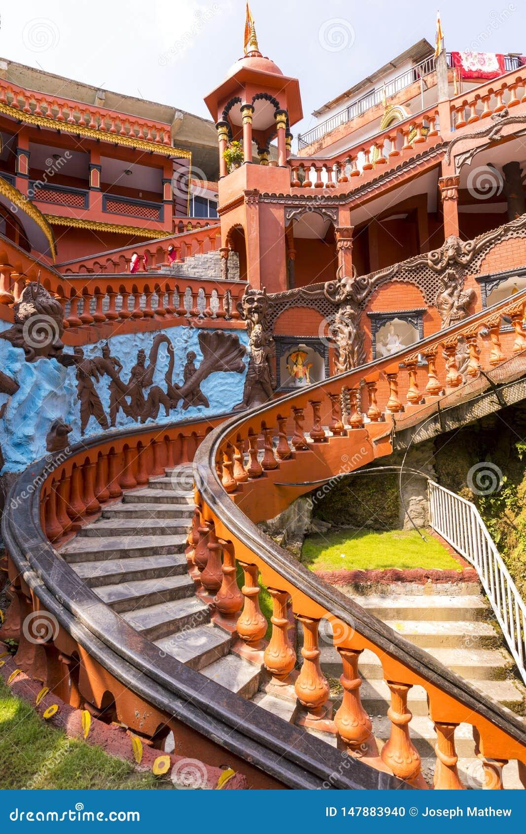 Eingangs-Gebäude von Höhle Pokhara Nepal Gupteshwar Mahadev