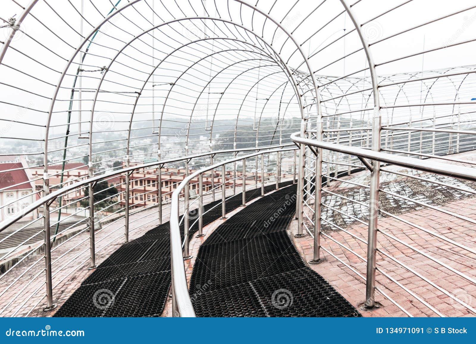 Eingangs-Tor-Ansicht von Jawaharlal Nehru Stadium Shillong, ist ein Fußballstadion in Shillong, Meghalaya, Indien hauptsächlich f