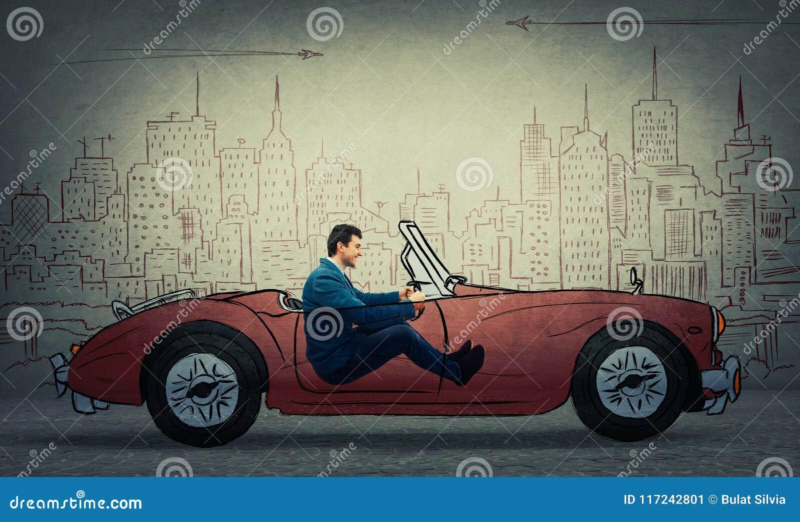 Eingebildetes Autofahren