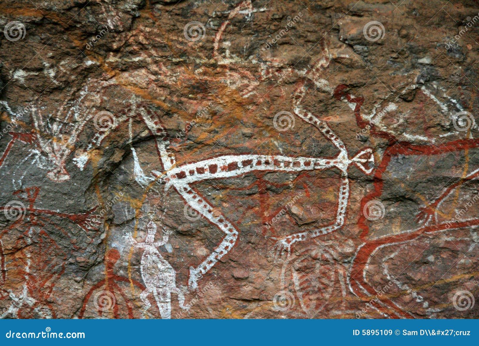 Eingeborene Felsen-Kunst - Kakadu Park, Australien