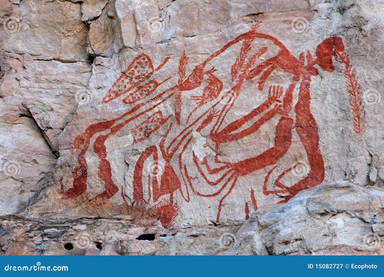 Eingeborene Felsenkunst