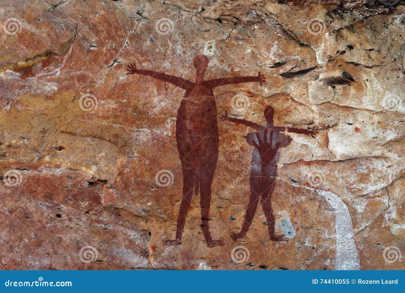 Eingeborener Felsenanstrich