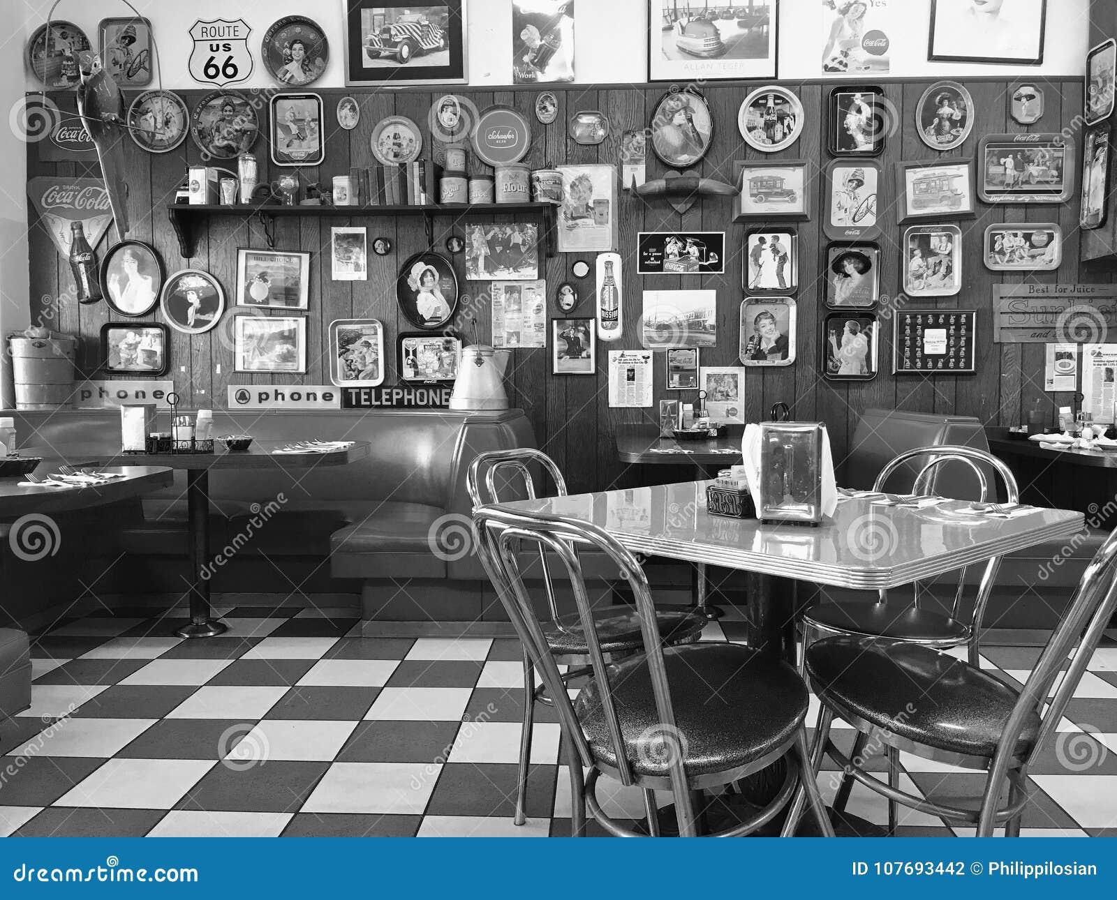 Einheimisches 50 ` S Restaurant Redaktionelles Stockfotografie ...