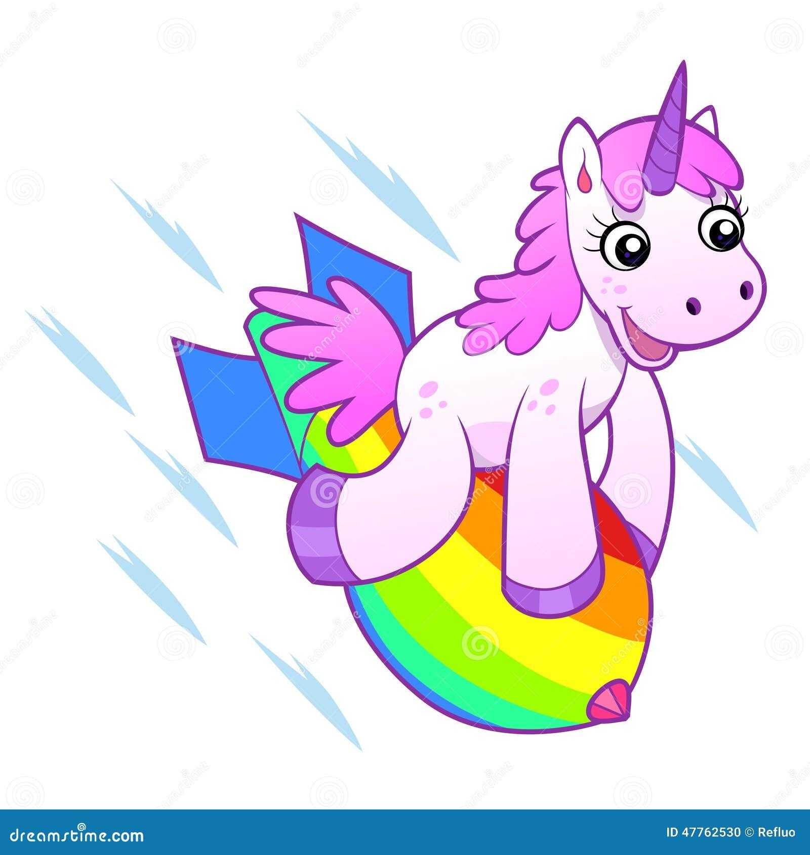 einhorn aufna by einhorn auf regenbogenbombe vektor abbildung bild 47762530