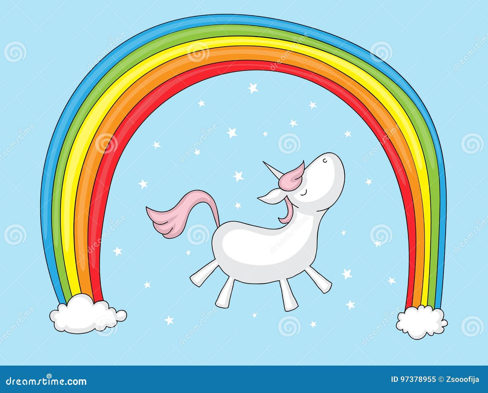 Einhorn mit Regenbogen