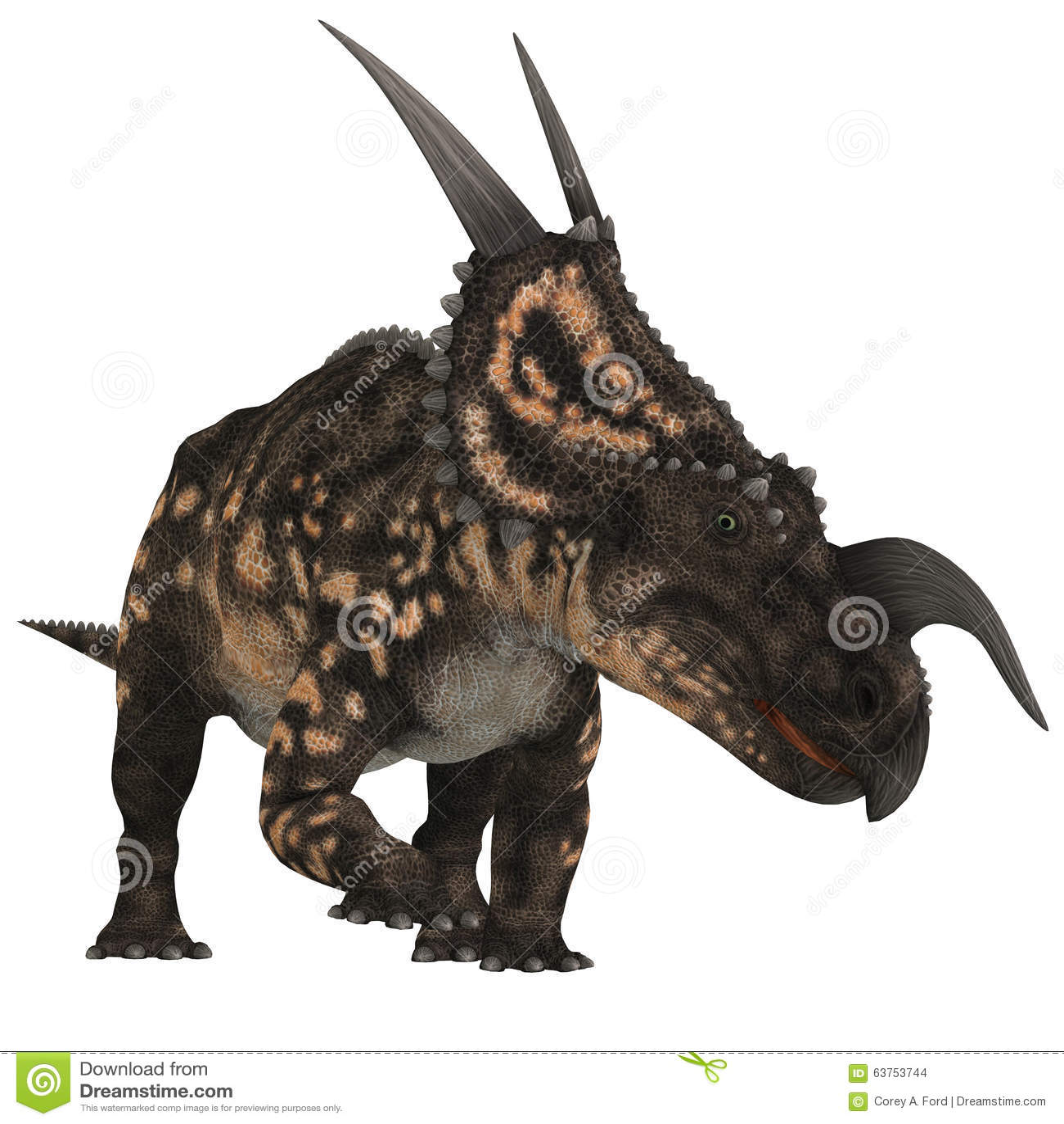 Einiosaurus no branco
