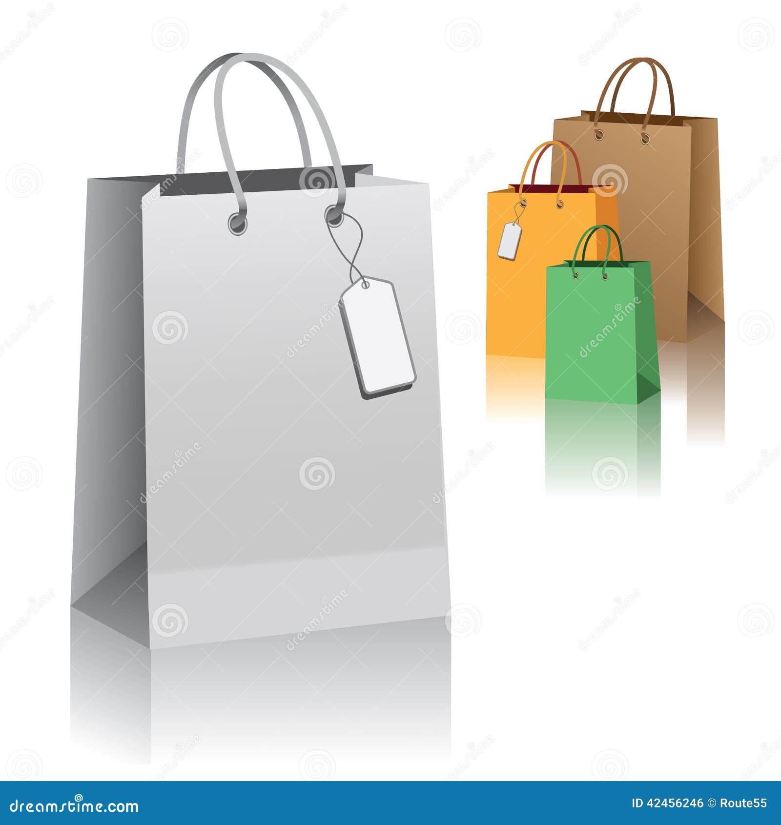 Einkaufenbeutel auf Weiß