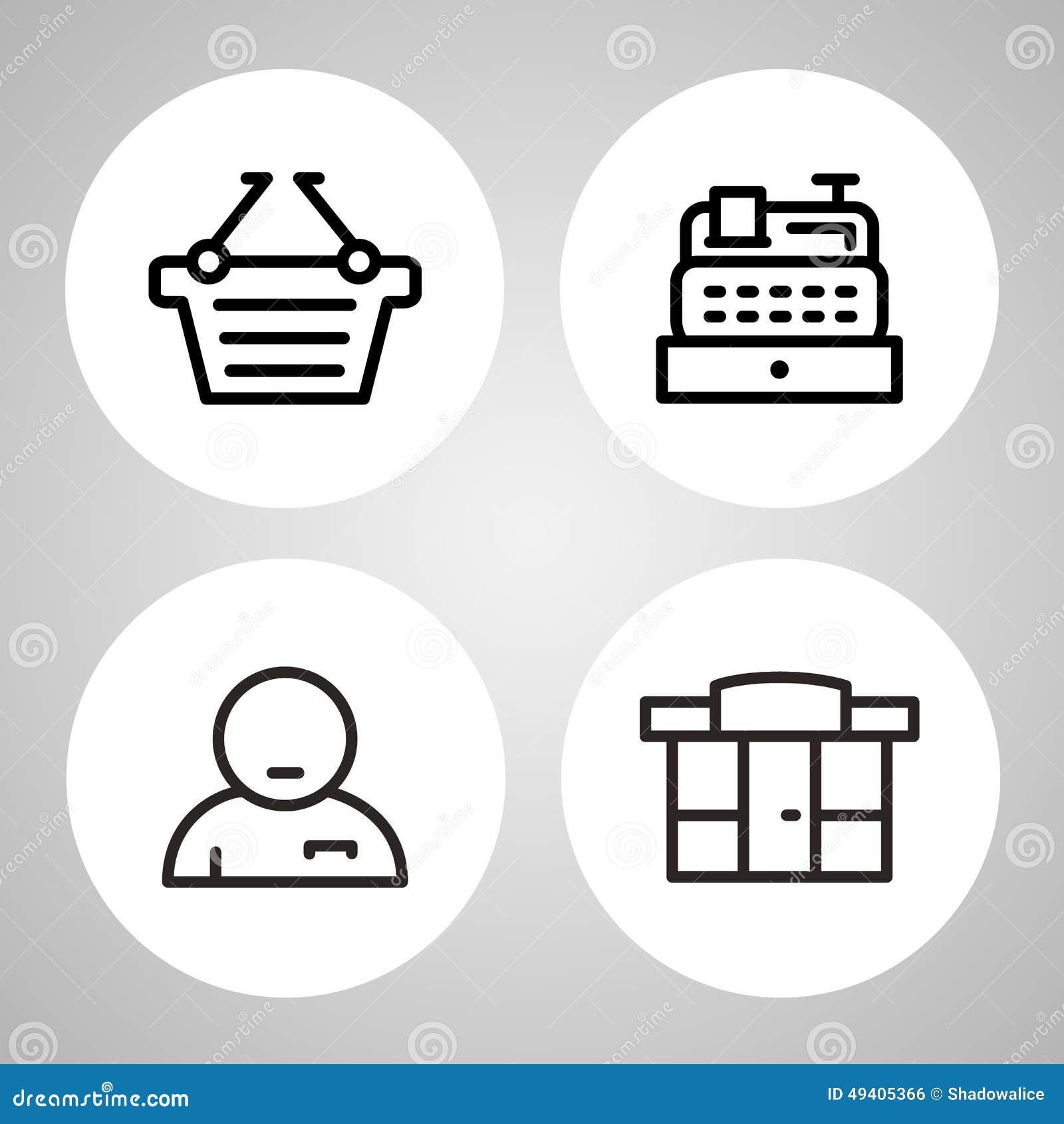 Download Einkaufsikonen Stellten Groß Für Jeden Möglichen Gebrauch Ein Vektor Eps10 Vektor Abbildung - Illustration von zahlung, wagen: 49405366