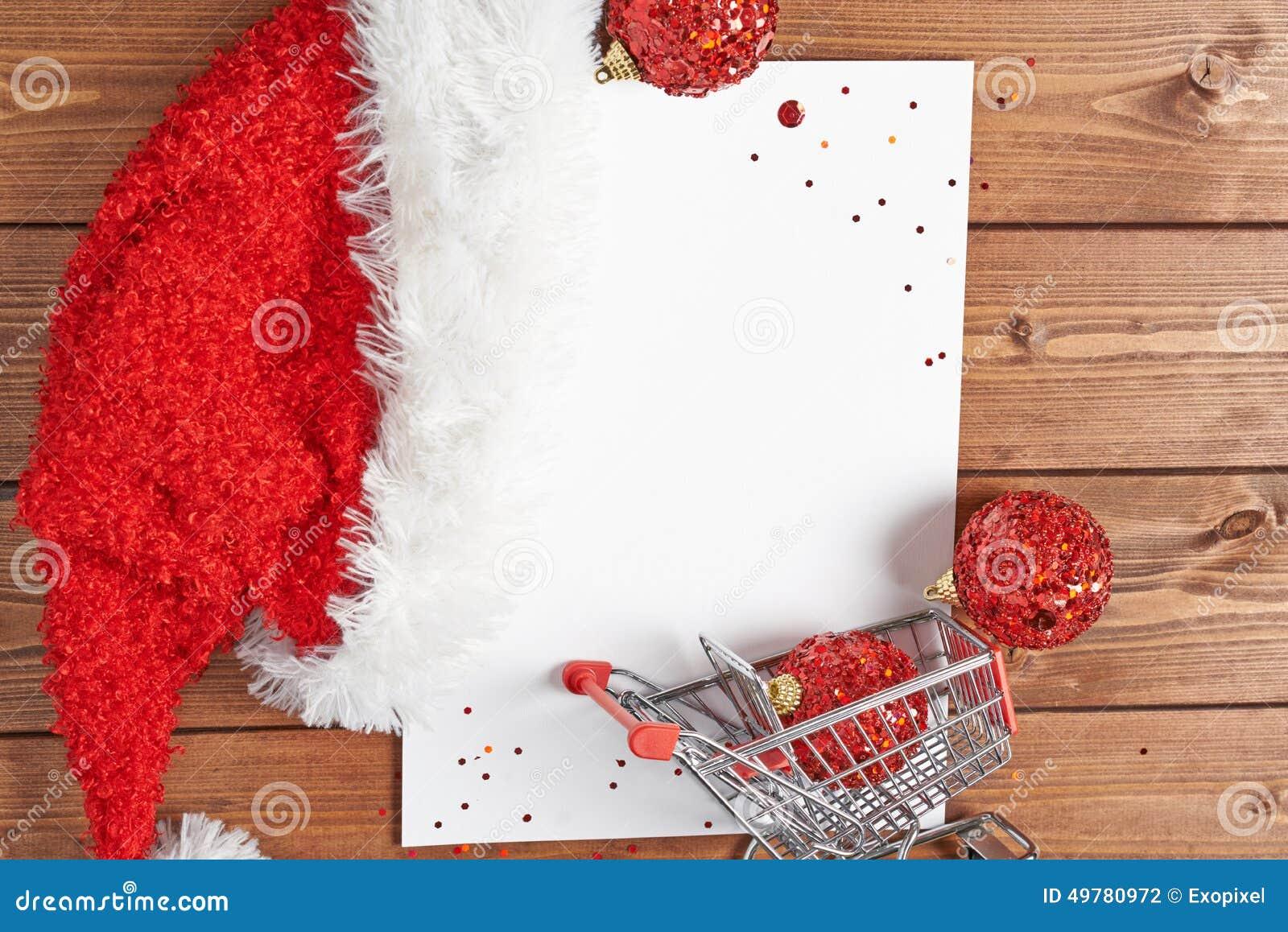 Einkaufsliste Für Weihnachten Stockfoto - Bild von weihnachten ...