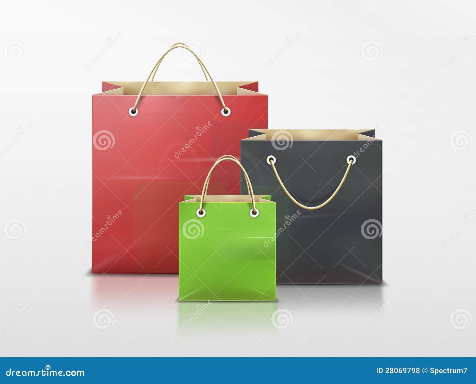 Einkaufstaschen eingestellt